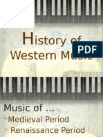 History of Western Music