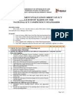 PRE-Assessment Evaluation Sheet