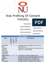 Risk Profiling of Cement Industry