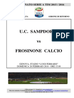 2015-16 Sampdoria Frosinone