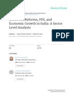 Economic Growth, Fdi and Economic Reforms