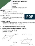 Analisis Vektor