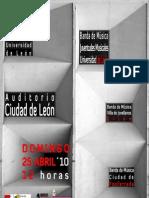 "Dossier II Festival de Bandas de Música ""Universidad de León"""