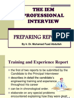 3. Training & Experience and Project Report