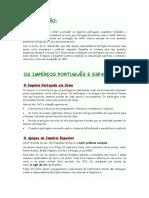 o Império Portugues e a Concorrência Internacional Resumo