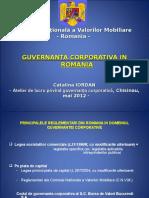 Guvernanta Corporativa in Romania