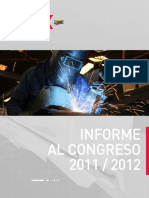 Informe Congreso 2011 2012 Sector Trabajo