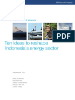 Ten Ideas to Reshape Indonesias Energy Sector