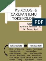 Pertemuan 2 - 3 Toksikologi Dan Cakupan Ilmu