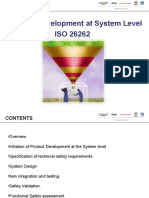ISO26262 Product Development System Level