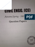 Civil Engg Question Papers Autumn & Spring 2005-2007