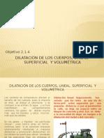 2.1.4 Dilatación de Los Cuerpos, Lineal, Superficial