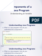 Components of a Java Program