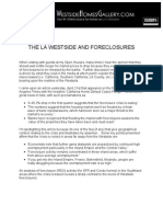 THE LA WESTSIDE AND FORECLOSURES