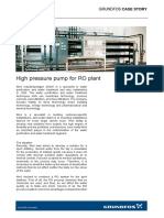 High Pressure Pump for Ro Plant