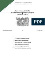 Six chansons polyphoniques à 4 voix / Pierre Certon