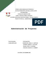 Trabajo - Administracion de Proyectos