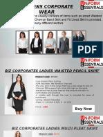 Womens Corporate Wear Supplier Austraila