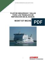 Plan de Prevencion de Riesgos Buque Mont St Michel