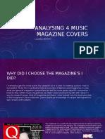 analysing 4 music magazine covers