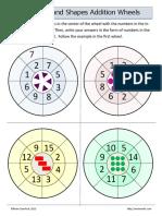 Odd Number Addition Wheels