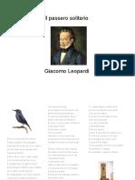 Leopardi _ Il Passero