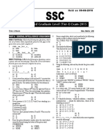 2015 Paper SSC CGL-9Aug