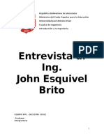 Entrevista Al Ing. John Esquivel Brito