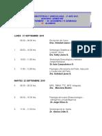 Calendario de Clases Para Alumnos