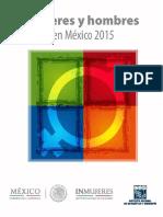 Mujeres y hombres en México 2015