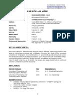 Resume - Muhammad Usman Khan