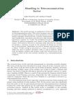 Credit Risk Handling in Telecommunication