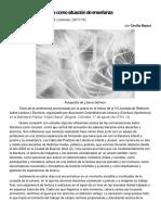 Bajour La Conversación Literaria Como Situación de Enseñanza