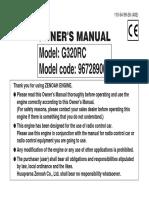 Zenoah g320rc Owners Manual Ddm
