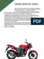 Moto Honda Invicta 150cc
