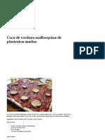 Coca de Verdura Mallorquina de Pimientos Asados - Recetas de Cocina y Consejos de Salud
