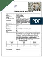 Ficha Tecnica Camaron PDF