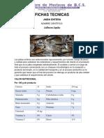 Ficha Tecnica Jaiba Entera PDF