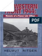 The Western Front 1944 Memoirs of a Panzer Lehr Officer J J Fedorowicz Pub 1995