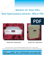Model 201C VOC Analyzer with PID or FID Detector 613