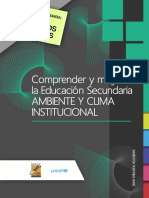 Ambiente y Clima Institucional Ed. Secundaria