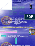 Administrasi Pendidikan Dalam Profesi Keguruan