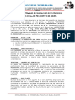 Contrato Residente Cochabamba - Chamoli