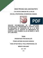 FACTORES ASOCIADOS AL INFARTO AGUDO DE MIOCARDIO