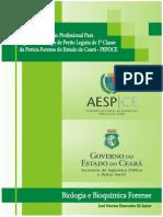 01 Apostila PEFOCE 2015 - Perito Legista 1ª Classe - Biologia e Bioquimica Forense - 26-08-2015