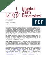 Assignment # 1, International Finance