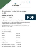 Entegrus Powerlines Inc - January 2016 Residential Rates (Strathroy, Mount Brydges & Parkhill)