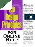 Ten Design Principles for Online Help
