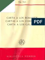 Cartas Romanos. Corintios, Galatas-kugss Otto