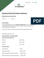 Entegrus Powerlines Inc - January 2016 Business Rates (Newbury)